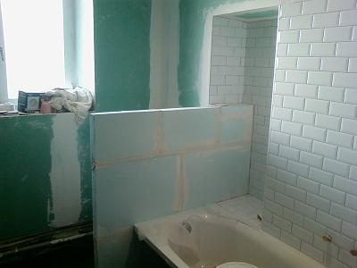 la pièce unique : la salle de bain - Carreau De Platre Salle De Bain